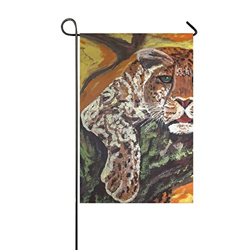 Home Decorative Outdoor Double Sided Painted Leopard Acrylic