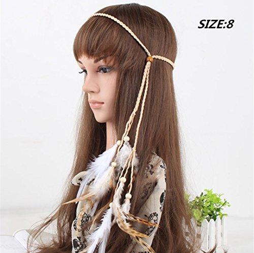 SFeather-Headband-jalive-New-Ethnic-Vintage-Indian-Feather-Tassel-Hemp-Rope-Headband-for-Women-Girls-1PC-for-GirlWomen-Style8