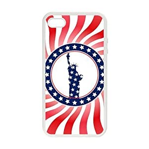 American Flag Star Case For Iphone 4/4S Cover cover