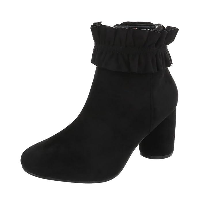 Zapatos para Mujer Botas Mini Tacón Botines Clásicos Ital-Design