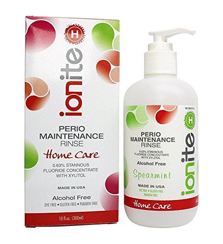 Ionite 0.63% Stannous Fluoride Antimicrobial Perio Rinse Mouthwash - Spearmint Flavor 10 Fl. (Stannous Fluoride)