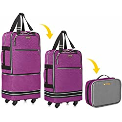 "Biaggi Luggage Zipsak Boost! Expandable Carry On - 22"" Expands to 28"", Purple"