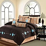 Oversized King Comforter 110 X 96 MB Collection 7 Piece WESTERN Lodge Oversize KING (110