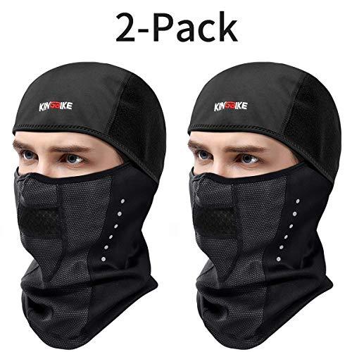 - KINGBIKE Balaclava Ski Face Mask Windproof Waterproof Warm Hood for Men Women (Style 1-Snug Fit(2 PACK))