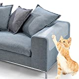 Cat Furniture Protector,Aolvo 6 Pack Removable Cat Scratch Guard Cat Anti Scratch Pads Clear Vinyl Pet Claw Guards with Self-Adhesive Pads to Protect Sofa, Walls, Mattress, Car Seat, Door 47X15cm