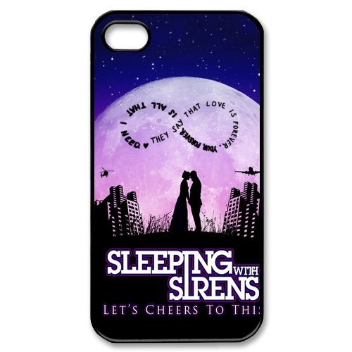 Sleeping with Sirens Lover Kiss 8 iPhone 4 4S Hard Cover Case Best Choice Birthday (Siren Costume Diy)