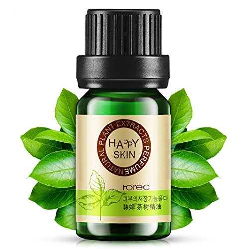 Pure & Natural Essential Oil, Lotus.flower 10ML Water Soluble Herb Oil Therapeutic Grade Aromatherapy Scent for Diffuser Humidifier / Body Massage / Skin Care (Tea Tree)