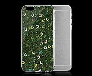 Light weight with strong PC plastic case for iphone 5 5s Patterns Textiles Sequins Green Apple