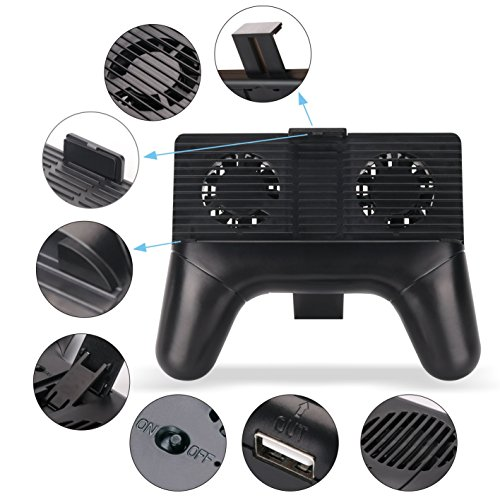 Mobile Game Controller 4 In 1 Rapid Cooling Fan Radiator