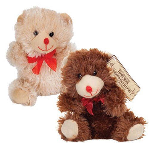 "Super Cute Valentines Day Chocolate-Scented Plush Sitting Bears, 7"" (Set of 2)"