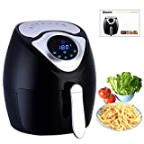 Air Fryer, Ejoyous Multi-function Electric Air Fryer with Rapid Air Circulation Technology and Time /Temperature Control LED Display,2.6L 1300W (Air fryer)