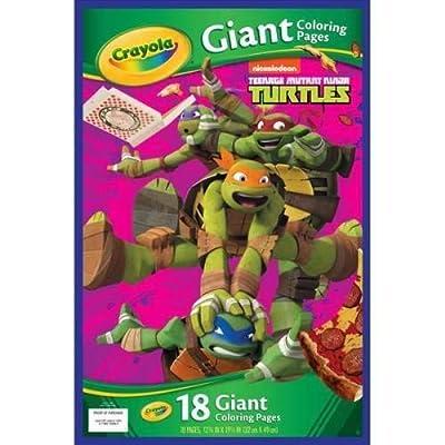 Crayola Kids Teenage Mutant Ninja Turtles TMNT Giant Poster Coloring Book: n/a: Toys & Games