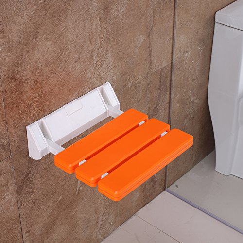 Folding Shower Seat Wall Mounted Drop-leaf Bench Stool,Fi...