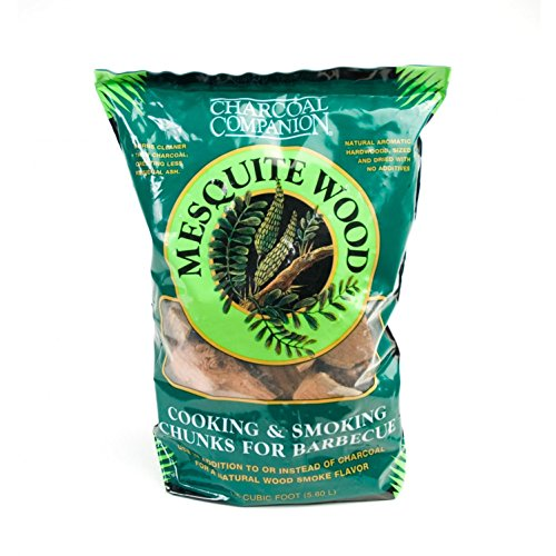 Charcoal Companion Mesquite Cooking and Smoking Wood Chunks, 6-Pound Bag (Chunks Cooking)