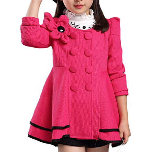 Tronet Baby Boy Girls Jacket Infant Toddler Kids Flower Coat Outerwear Outfits For 2-12 Years Old