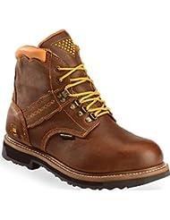 Dan Post Mens Gripper Zipper Leather Work Boots