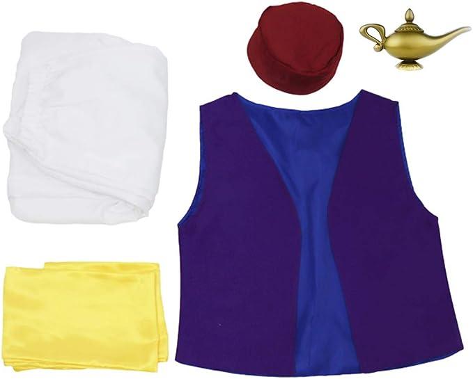 Disfraz de Cosplay de Aladdin para hombre, trajes de cuento de ...