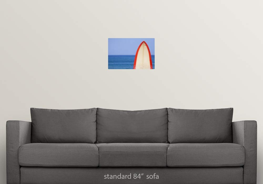 Amazon.com: GREATBIGCANVAS Poster Print Entitled Surfboard ...