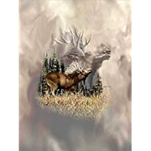 "Everydayspecial Signature Collection Luxury Super Soft Cozy Microfiber Blanket Twin Size 60""x80"" Moose Calls 100% Polyester"