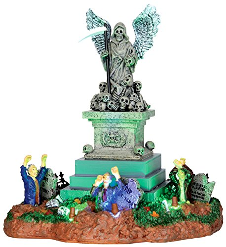 Lemax 34603 ANGEL OF DEATH Spooky Town Table Accent Animated Halloween Decor