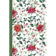 Journal: Holiday Poinsettias 6x9 - LINED JOURNAL - Writing journal with blank lined pages