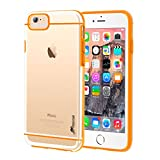 iPhone 6s Case, rooCASE iPhone 6 Case [FUSION Series] Slim Fit Hybrid Clear PC / TPU Trim Case Cover for Apple iPhone 6 / 6s (2015), Clear / Orange