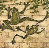 Metal FROGS Wall hanging Art Decor - set of 2