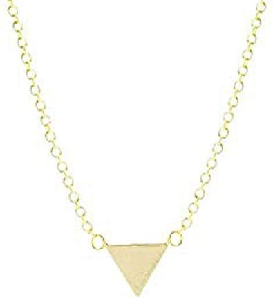 Mode plaqué or forme géométrique Collier Pendentif