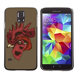 Designer Depo Hard Protection Case for Samsung Galaxy S5 / Cool Rooster