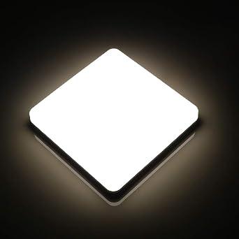 Lamker Plafones 24W Plafón baño LED Iluminación de Techo para Oficina de La Cocina Moderna Comedor