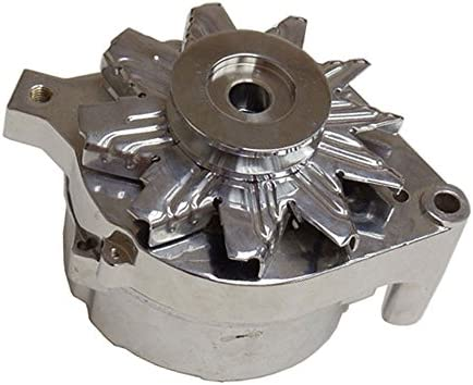 DEMOTOR PERFORMANCE Chrome Alternator Housing Fan /& Pulley Fits 86 /& Earlier Ford