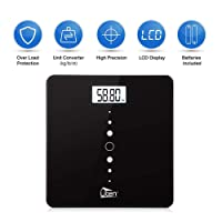 Uten Digital Bathroom Scales High Precision Weighing Scale with Step-On Technology,Backlight Display,200kg/400lb/28st