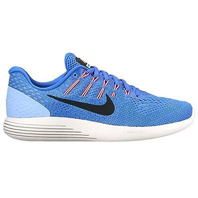 Nike Womens Lunarglide 8 Medium Blue/Black Aluminum Running Shoe 9.5 Women  US