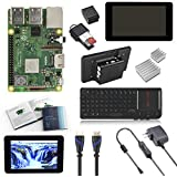 "V-Kits Raspberry Pi 3 Model B+ (Plus) Complete Starter Kit with 7"" LCD Touchscreen Monitor & Mini Keyboard with Touchpad Combo"