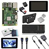 V-Kits Raspberry Pi 3 Model B+ (Plus) Complete Starter Kit with 7' LCD Touchscreen Monitor & Mini Keyboard with Touchpad Combo