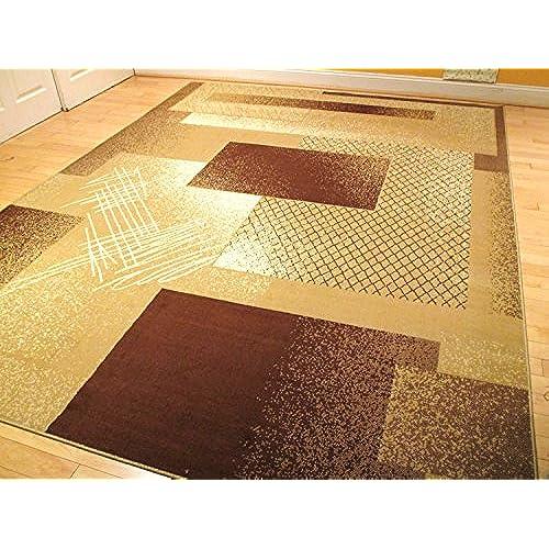 Large 5x8 Rug Beige Contemporary Rugs 5x7 Carpet Tan Living Room Rug Brown  Cream Beige Rug 5x8 Rug 5x7 Modern Rug (Medium 5x8)