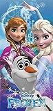Disney Frozen Dynasty Elsa Anna Olaf Beach Towel, 28 Inch x 58 Inch