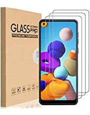 HEYUS [3 Pack] for Samsung Galaxy A21s Screen Protector, 9H Hardness Premium Tempered Shatterproof Glass Screen Protector Case Friendly Film for Samsung Galaxy A21s