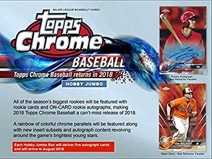 Amazoncom 2018 Topps Chrome Baseball Jumbo Box 12 Packs5