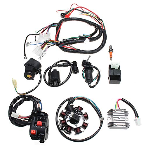 Electric Wiring Harness Wire Loom CDI Motor Stator Full Set Fit For ATV QUAD 150/200/250CC Engine Component: