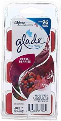 Glade Wax Melt Refill, Fresh Berries, 6 Count