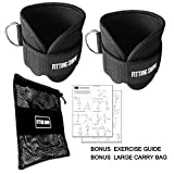 Ankle Strap Kit for Cable Machine Attachments for Leg and Ab Exercise , Stronger Weight Lifting , Durable Fitness Equipment Accessories For Men and Woman , Home and Gym , Bonus Workout Guide and Bag