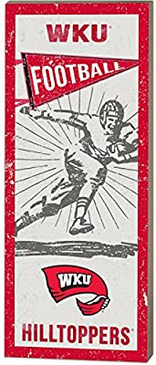 "KH Sports Fan 7""x 18"" Western Kentucky Hilltoppers Vintage Player Sign"