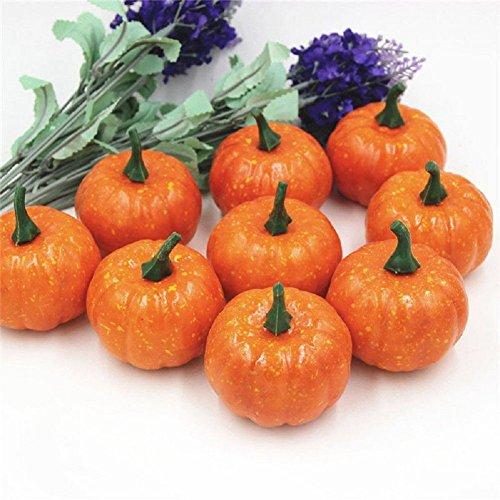 Missley Halloween Pumpkin 16 Pcs Artificial Pumpkin Mini Pumpkins Decoration For Halloween/Christmas/Wedding/Home Decoration by Missley (Image #9)
