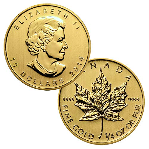 Royal Mint Gold Coins - 1/4 Ounce Canadian Gold Maple Leaf $10 Brilliant Uncirculated