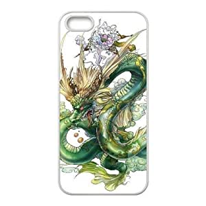 Customized Cover Case with Hard Shell Protection for Iphone 5,5S case with Dragon lxa#861083 by runtopwell
