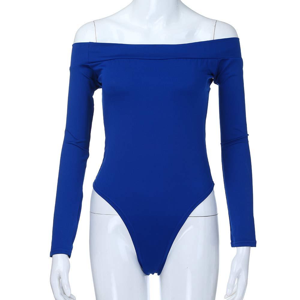 KANGMOON Womens Mock Neck//Turtle Neck Long Sleeve Modal Bodysuit Jumpsuit