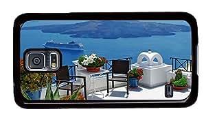 Hipster Samsung Galaxy S5 Case original cover ocean santorini greece PC Black for Samsung S5