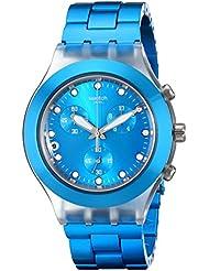 Swatch Mens SVCK4053AG Full Blooded Cyan Analog Display Analog Quartz Blue Watch