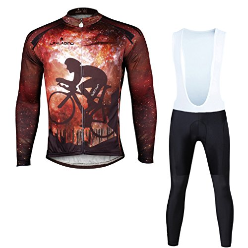 Paladinsport Men's Bike Clothing 100%Polyester Long Sleeve Bicycle Apparel And Bib Pants Set Size - Brand Clothing Liv